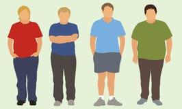 Meninos adolescentes excessos de peso Fotografia de Stock Royalty Free