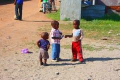 Meninos africanos Fotografia de Stock