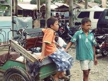 Meninos asiáticos Foto de Stock Royalty Free