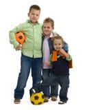 Meninos com futebol Imagens de Stock Royalty Free