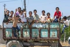 Meninos curdos perto de Adiyaman em Turquia Imagem de Stock Royalty Free