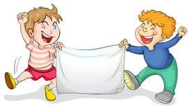 Meninos da bandeira ilustração royalty free