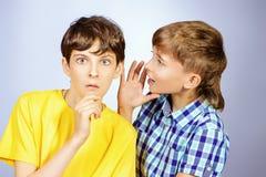 Meninos da bisbolhetice Imagens de Stock