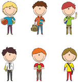 Meninos de escola Imagem de Stock