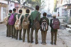 Meninos de escola indianos Fotografia de Stock Royalty Free