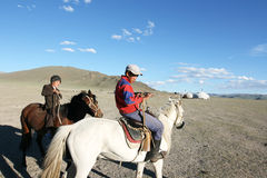 Meninos de Mongolia Imagem de Stock Royalty Free