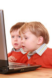 Meninos do computador Imagem de Stock