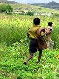 Meninos do fazendeiro Imagens de Stock Royalty Free