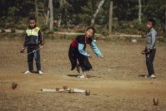Meninos do grupo étnico Hmong de Vietname fotos de stock royalty free