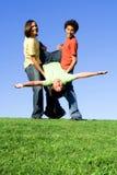 Meninos do grupo que têm o divertimento Fotografia de Stock Royalty Free