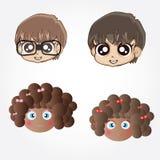 Meninos e meninas dos desenhos animados Imagem de Stock Royalty Free