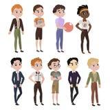 Meninos elegantes ilustração royalty free