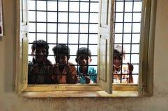 Meninos indianos curiosos fotografia de stock royalty free