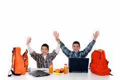 Meninos que fazem trabalhos de casa Imagem de Stock Royalty Free