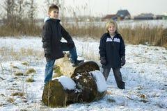 Meninos resistentes Fotografia de Stock Royalty Free