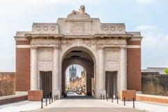 Meninpoort in Ypres België Royalty-vrije Stock Afbeeldingen