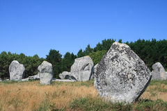 Menir of Carnac(Britain-French). Image of the Menir of Carnac(britain-French Stock Image