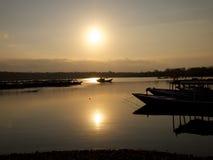 Menjangan海岛下潜小船 库存图片