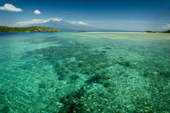 Menjangan Island, Bali, Indonesia. The magnificent coral reefs around Menjangan Island in northwest Bali are a magnet for scuba divers and snorkelers alike. Mt Royalty Free Stock Photo