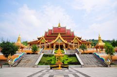 Menjie Buddhist Temple. Xishuangbanna, China Stock Images