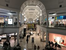 Menlo Park Mall. Interior view of multiple levels of the Menlo Park Mall in Edison, New Jersey (USA Stock Image
