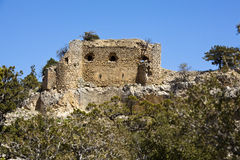 Mennan Castle. Located in south Turkey, Karaman - Ermenek at the end of the Taurus Mountains. it's english name is refugee castle Royalty Free Stock Image