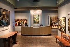 对美国艺术Mennello博物馆的入口  免版税图库摄影