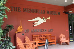 对美国艺术Mennello博物馆的入口  库存图片