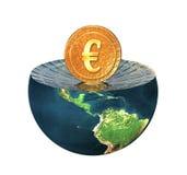 mennicza ziemska euro hemisfera ilustracji