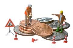 mennicze dolarowe postacie rozsypiska miniatury działanie Obraz Royalty Free