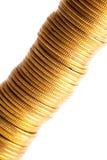 menniczego złota odizolowywający sterty biel Obraz Royalty Free