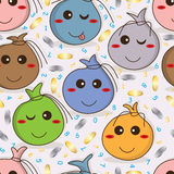 Menniczej torby kreskówki bezszwowy wzór Fotografia Royalty Free