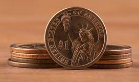 menniczy dolar jeden Obrazy Stock