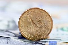menniczy dolar jeden Fotografia Stock