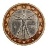 menniczy euro Obrazy Royalty Free