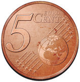menniczy euro Zdjęcie Royalty Free