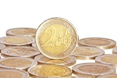 menniczy euro dwa Fotografia Stock