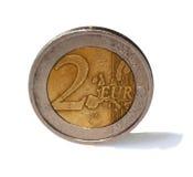 menniczy euro dwa Zdjęcie Royalty Free