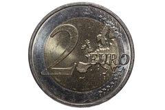 menniczy euro dwa Obraz Royalty Free