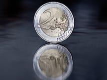menniczy euro dwa Zdjęcie Stock