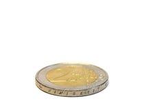 menniczy euro dwa Obrazy Stock