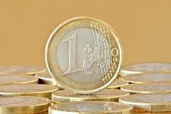 menniczy euro jeden Obraz Royalty Free