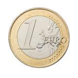 menniczy euro jeden Obraz Stock