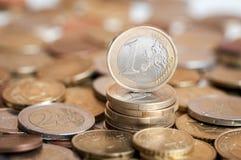 menniczy euro jeden Zdjęcie Stock