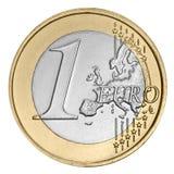 menniczy euro jeden Zdjęcie Royalty Free