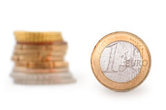 menniczy euro jeden obrazy stock