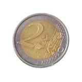menniczy euro odizolowywał dwa Zdjęcia Royalty Free