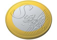 menniczy euro sukces Obrazy Stock