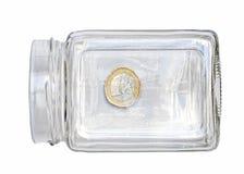 menniczy euro szkło Obrazy Royalty Free