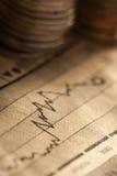 Menniczy i mapa biznesu pojęcie Zdjęcia Stock
